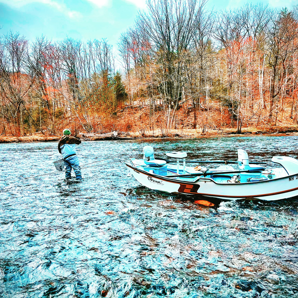 Hyde Boat fly fishing guide NH